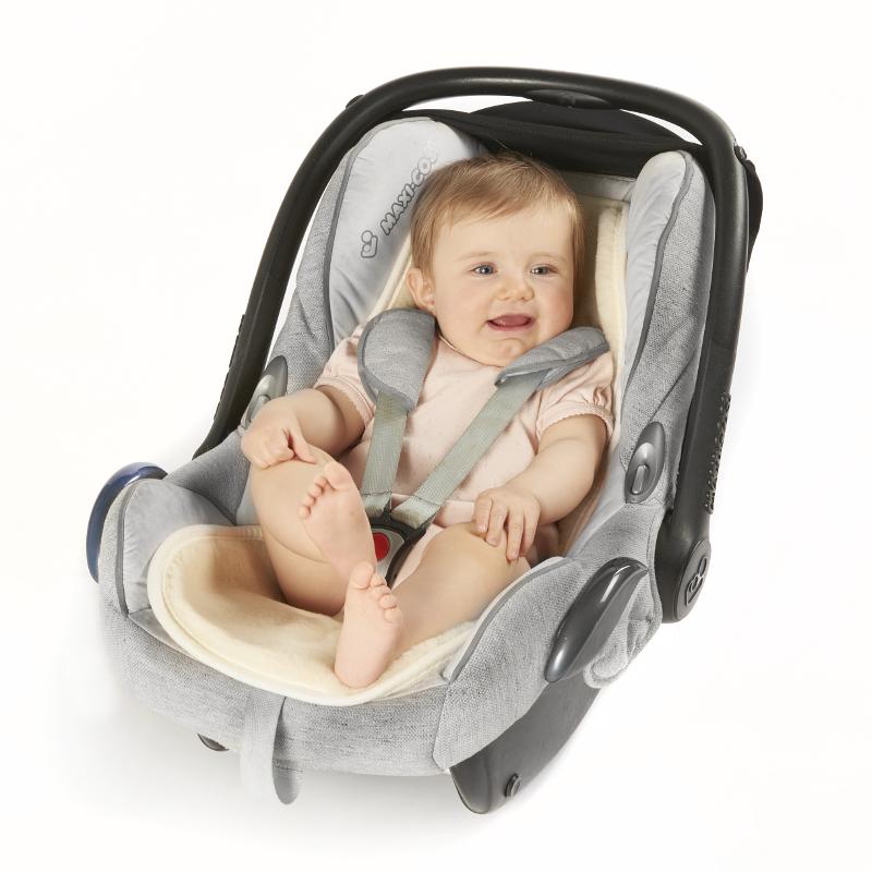 300 Merino-Baby-Universaleinlage mit Gurtschlitze, natur