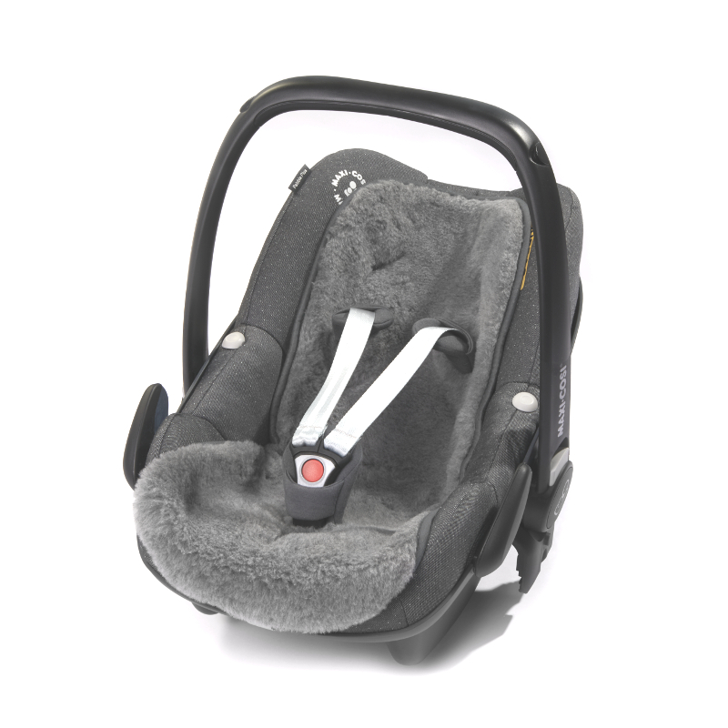 300 Merino-Baby-Universaleinlage mit Gurtschlitze, grau