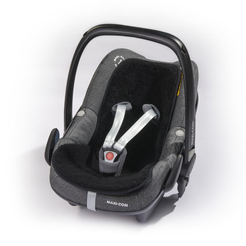 300 Merino-Baby-Universaleinlage mit Gurtschlitze, schwarz