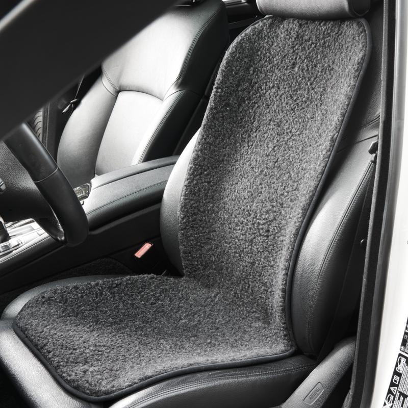 589 Autositzauflage Komfort aus Schurwolle, anthrazit