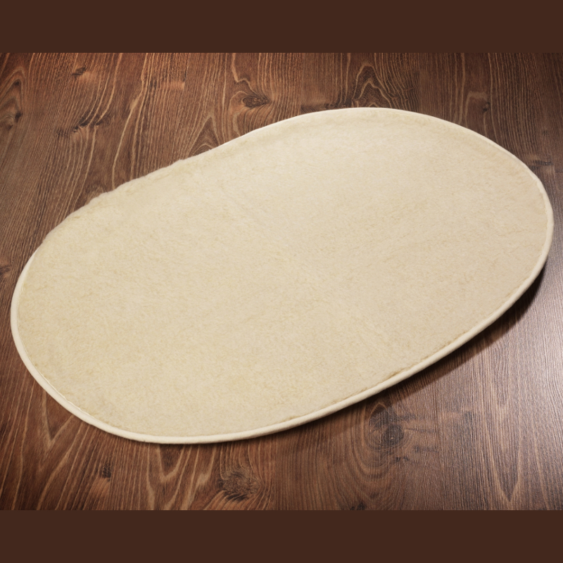 649 Haustierdecke oval beige