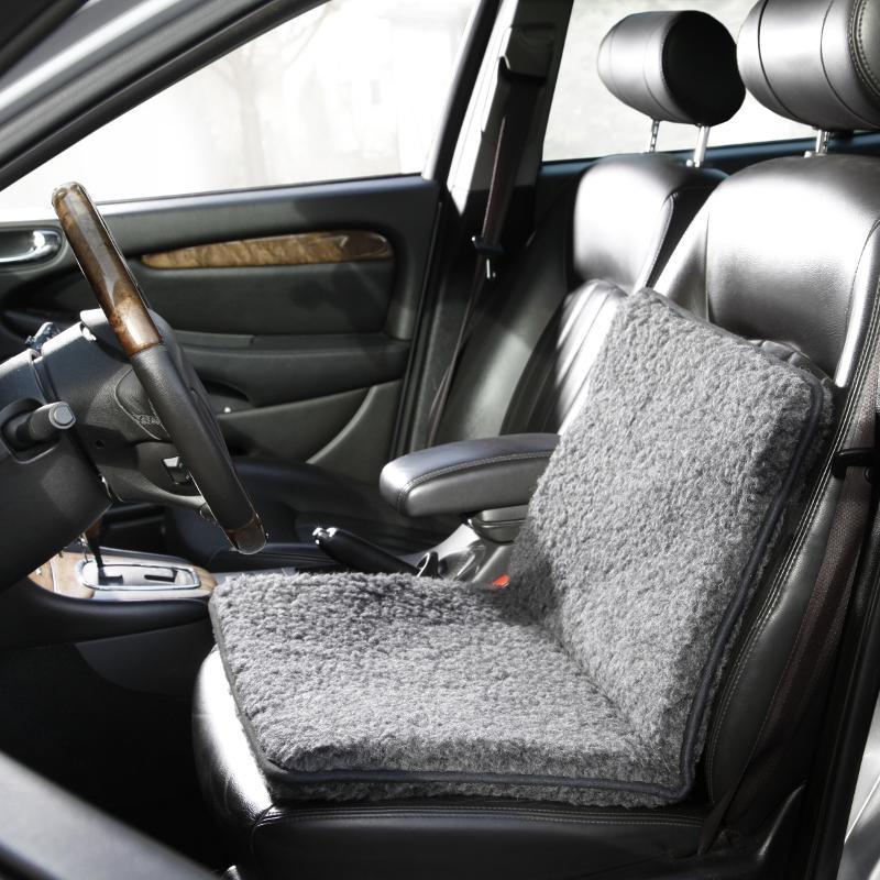 789 Schurwoll-Universalplaid, Autositzauflage, anthrazit