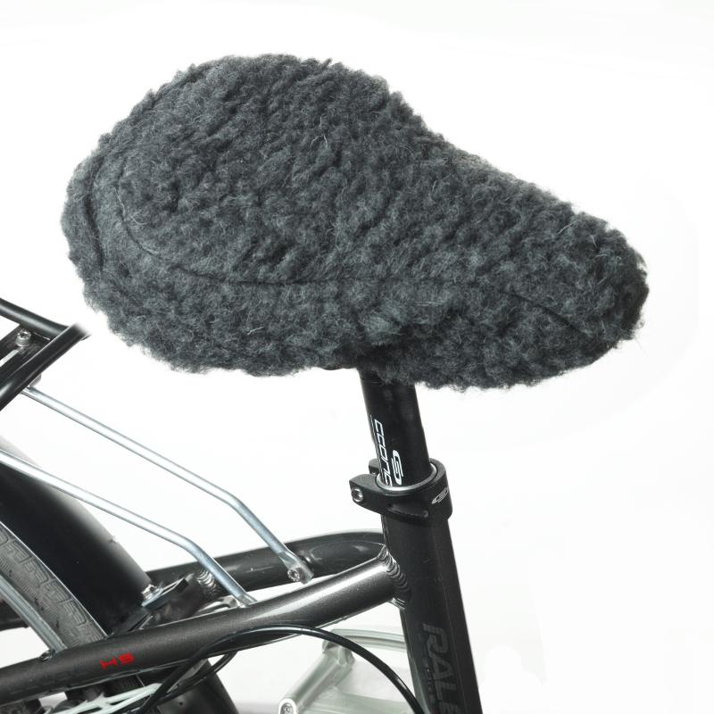 831 Fahrradsattelbezug aus Schurwolle, anthrazit