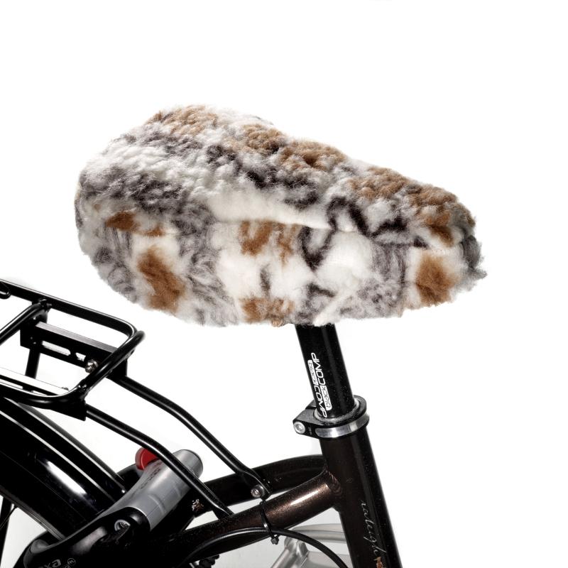 831 Fahrradsattelbezug aus Schurwolle, folklore