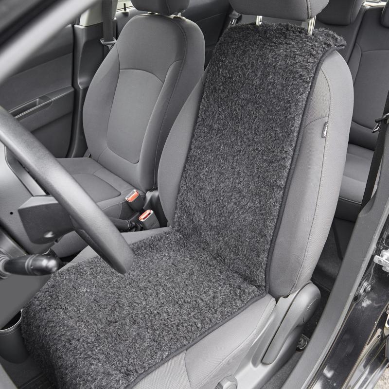 870 Schurwoll-Autositzauflage, anthrazit